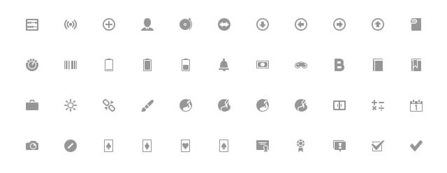 Google Plus Interface Icons