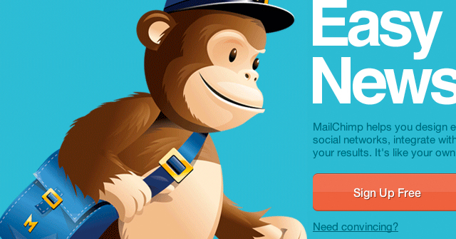 MailChimp branding - Monkey mail man
