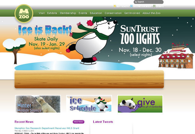 The Memphis Zoo carries a slightly joyous look that goes pretty well with the name of the website