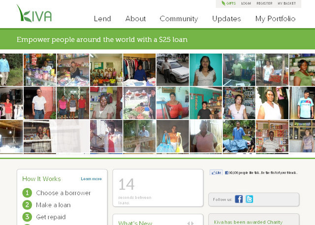 >The website design of Kiva is far beyond the ordinary non profit website design&#8221;></p> <h2><a target=