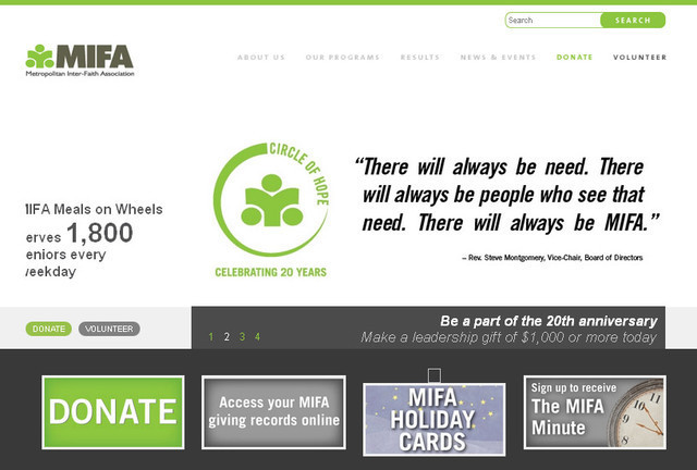 Metropolitan Inter-Faith Association website design is simple, uncomplicated and has a very minimalist look