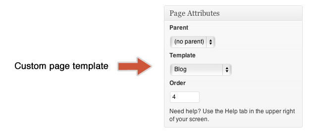 You need to declare a template name which will show in your dashboard when creating a new page or editing an existing one
