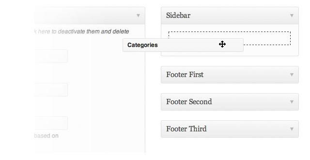 Sidebar is widgetized as well
