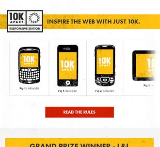 responsive mobile view of 10K Apart