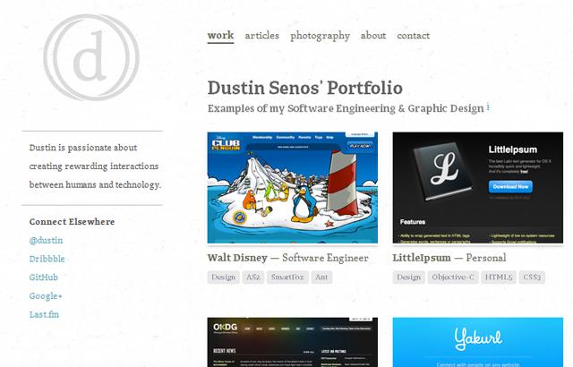 desktop view of Dustin Senos