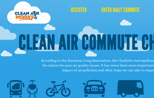 desktop view of Clear Air Challenge