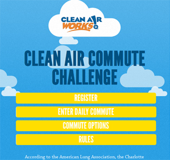 responsive mobile view of Clear Air Challenge