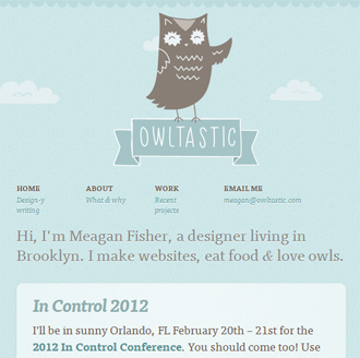 responsive mobile view of Owltastic
