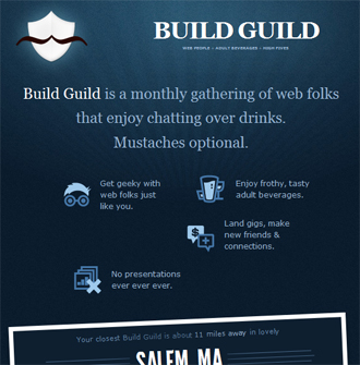 responsive mobile view of Build Guild