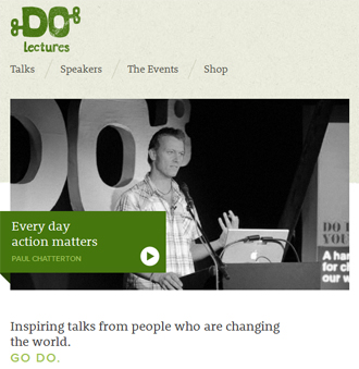 responsive mobile view of Do Lectures