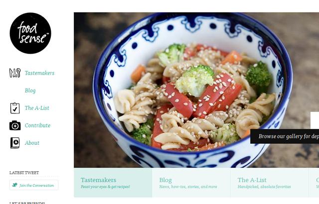 desktop view of Food Sense