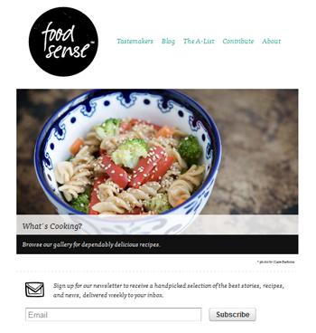 responsive mobile view of Food Sense