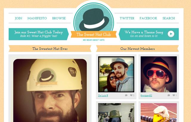 desktop view of Sweet Hat Club