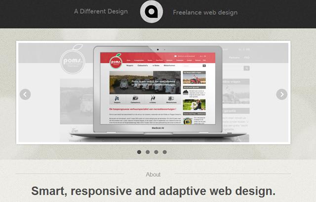 desktop view of A Different Design