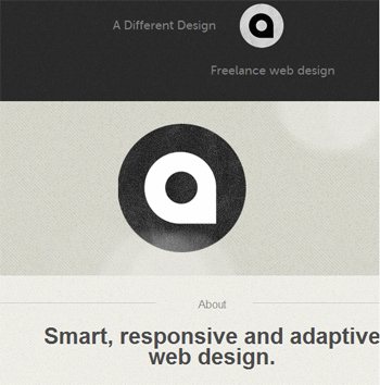 responsive mobile view of A Different Design