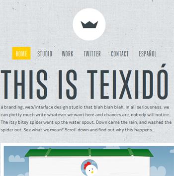 responsive mobile view of Teixido