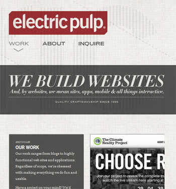 responsive mobile view of Electric Pulp