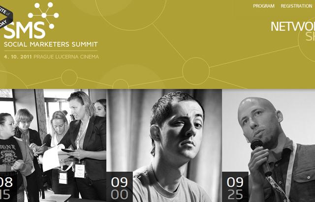 desktop view of Social Marketer's Summit