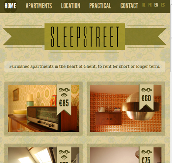 responsive mobile view of Sleepstreet