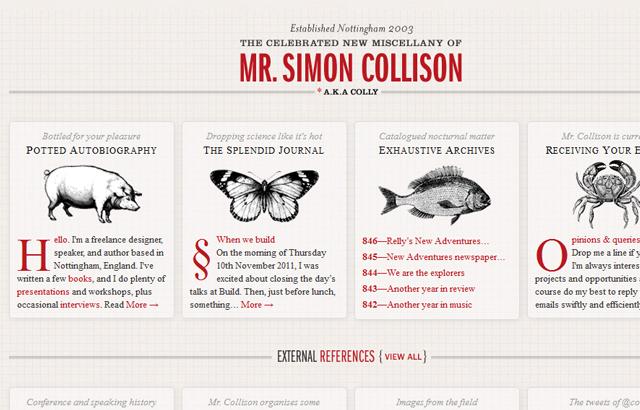 desktop view of Simon Collison