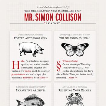 responsive mobile view of Simon Collison