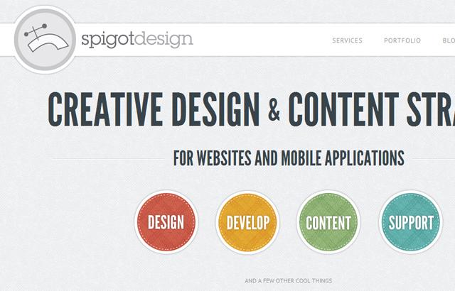 desktop view of Spigot Design