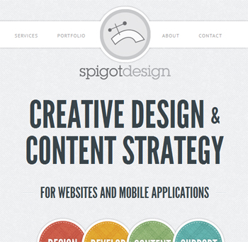 responsive mobile view of Spigot Design