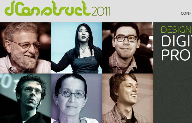 desktop view of dConstruct 2011