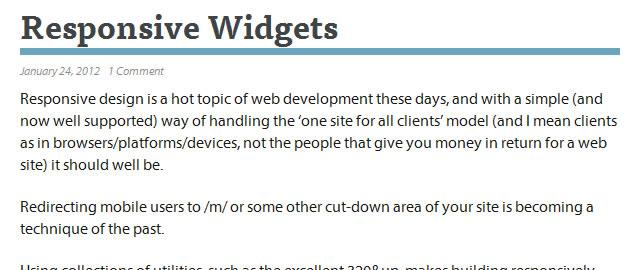 Responsive JavaScript Widgets