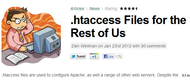 .htaccess Files for the Rest of Us