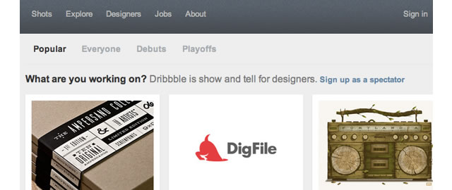 How to Design a Dribbble-Style Homepage Layout