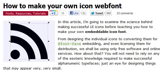 How to Make Your Own Icon Webfont