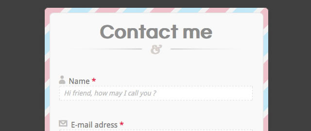Full CSS3 HTML5 Contact Form with No Images