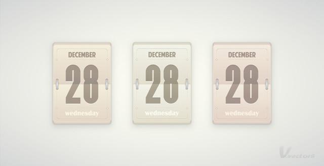 daily flip calendar template