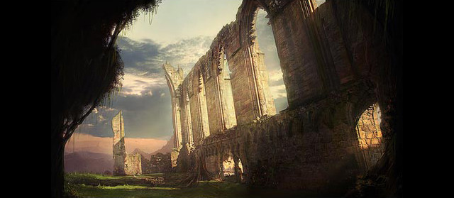 Ruins of a Forgotten Abbey tutorial in Photoshop