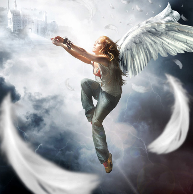 Complex Falling Angel Scene tutorial in Photoshop