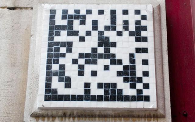 QR code Space Invader