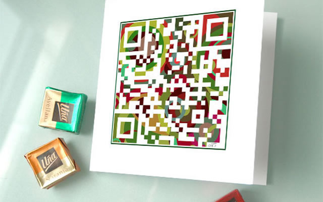 QR holiday card