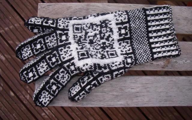 QR code gloves