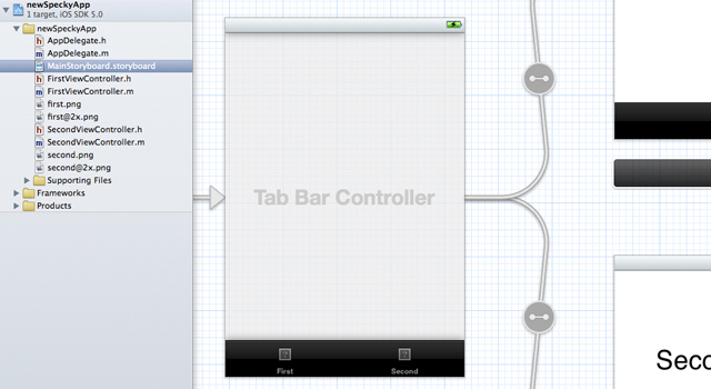 sample storyboard design for tab bar controller template