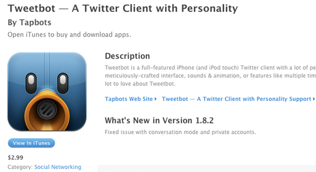Tweetbot profile icon on the App Store