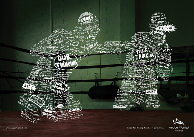 The Webber Wentzel Attorneys: Boxer as an example of inspirational Typography in Print Ads