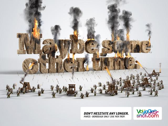Publicidad Impresa - Voyages-Sncf.com: Otro tiempo