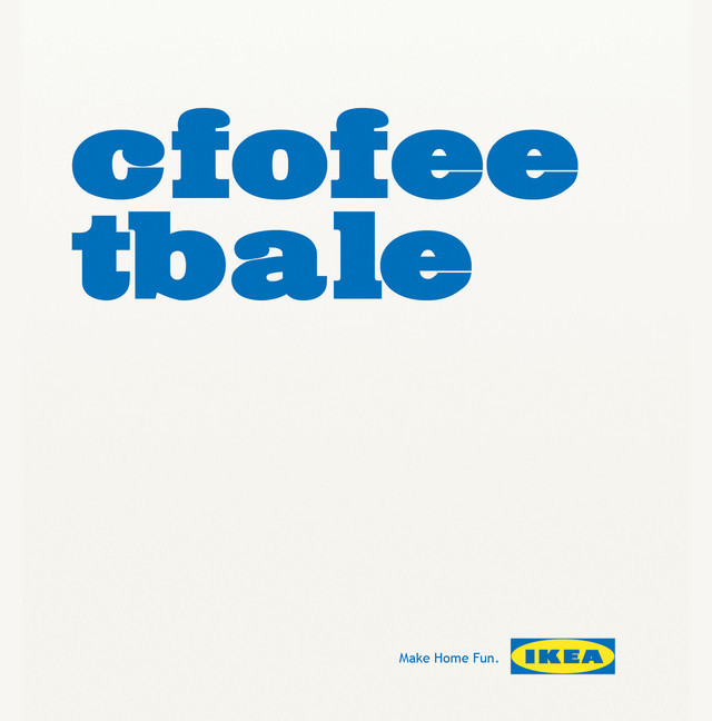 The IKEA as an example of inspirational typography example in print ads