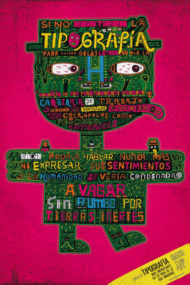 Publicidad Impresa - Escuela Complot Creatividad - Curso de Tipografía: H