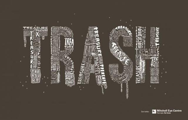 Publicidad Impresa - Centro de Mitchell con los ojos: La basura