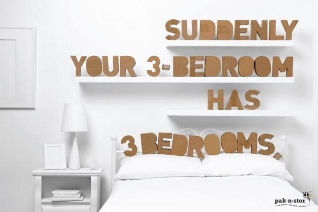 Publicidad Impresa - Pak-n-stor: Dormitorios