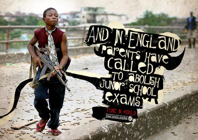 Publicidad Impresa - La Coalición para Acabar con la Utilización de Niños Soldados: Inglaterra