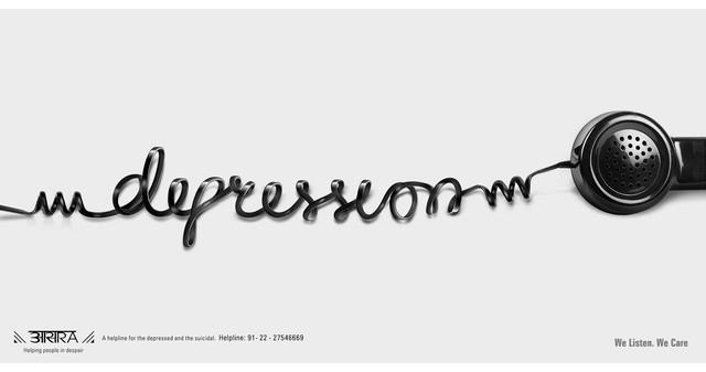 Publicidad Impresa - Suicidio Aasra Línea Prevención: La depresión