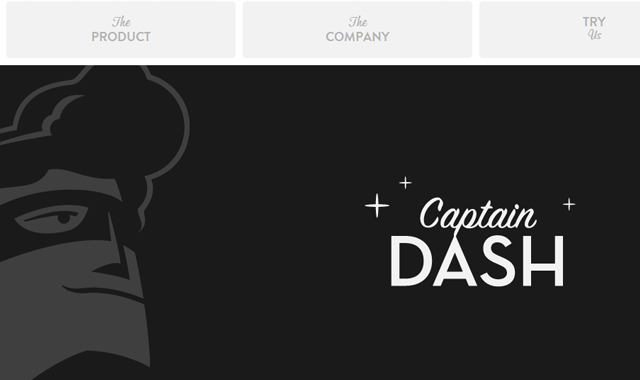 CaptainDash home page